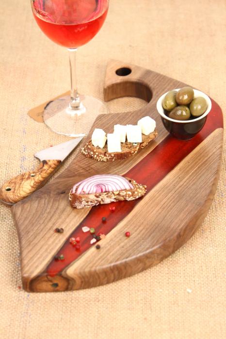 Platou servire din lemn de nuc 2