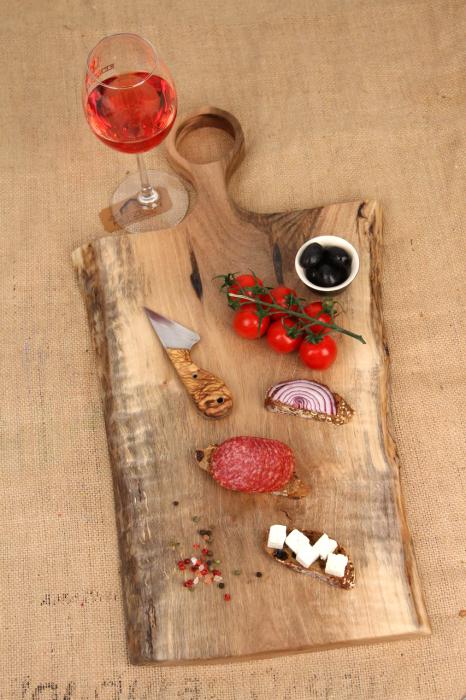 Platou servire din lemn de nuc 0