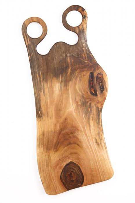 Platou de servire din lemn de nuc, culoare natur. 5