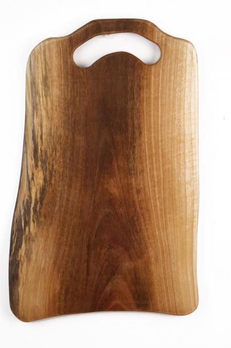 Platou de servire din lemn de nuc, culoare natur. 3