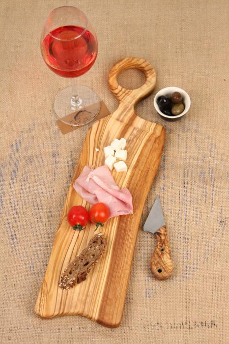 Platou de servire din lemn de maslin. 3
