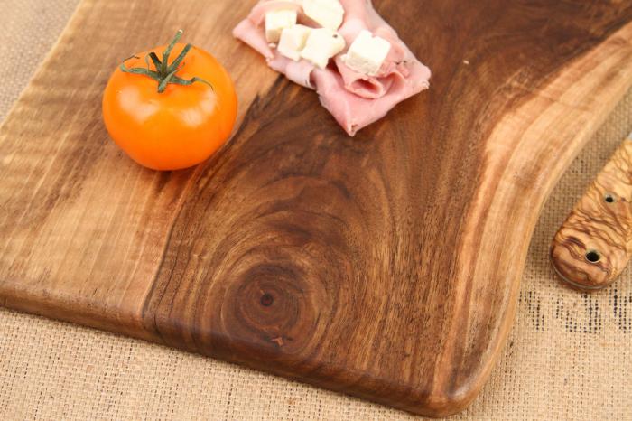 Platou de servire din lemn de nuc, culoare natur. 4
