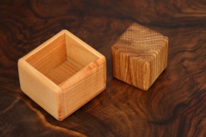Cub in cutie din lemn masiv (+ 8 luni) 4