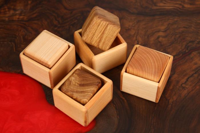 Cub in cutie din lemn masiv (+ 8 luni) 6
