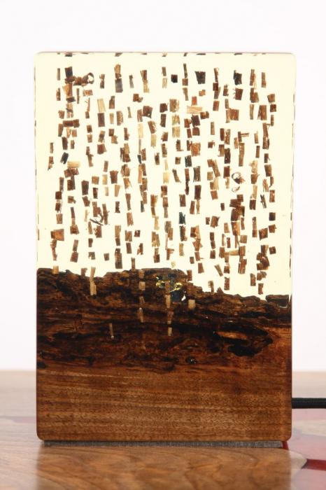 Lampa din rasina epoxidica cu lemn de maslin [5]