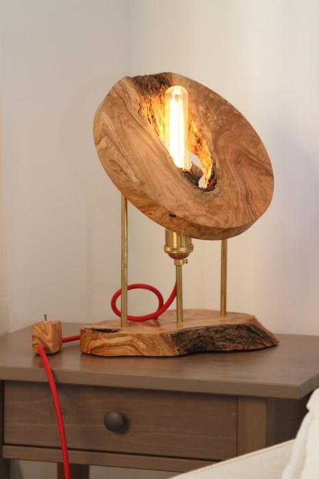 Lampa din lemn de maslin [0]