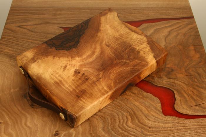 Tocator/Platou servire din lemn de nuc 4