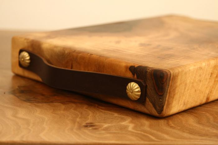 Tocator/Platou servire din lemn de nuc 6