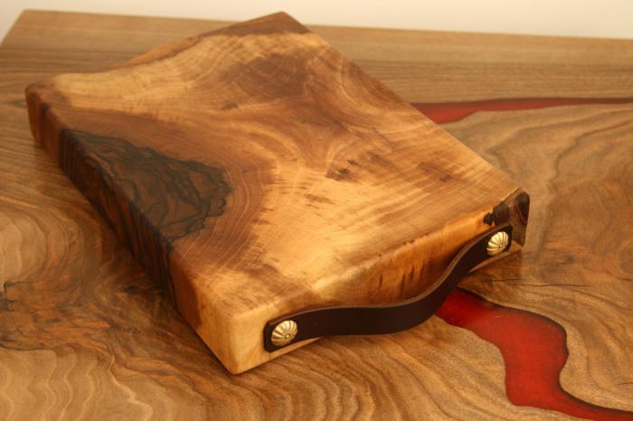 Tocator/Platou servire din lemn de nuc 7