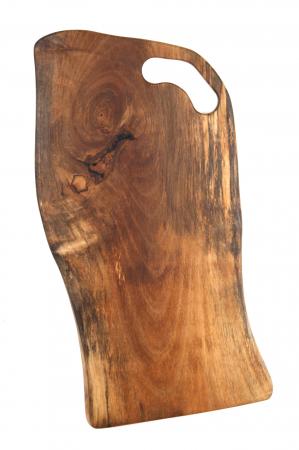 Platou de servire din lemn de nuc, culoare natur, cu insertie de rasina epoxidica [5]