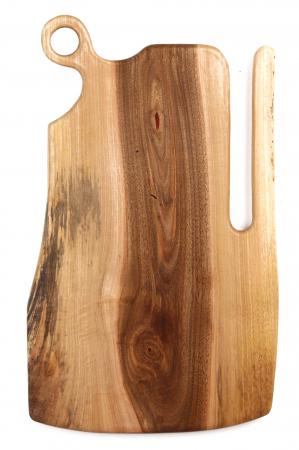 Platou de servire din lemn de nuc, culoare natur. [4]