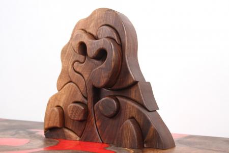 Puzzle decorativ din lemn masiv de nuc. [3]