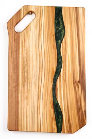 Platou de servire din lemn de maslin cu rasina epoxidica [0]