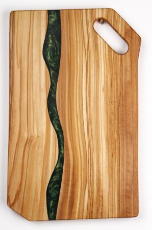 Platou de servire din lemn de maslin cu rasina epoxidica [3]
