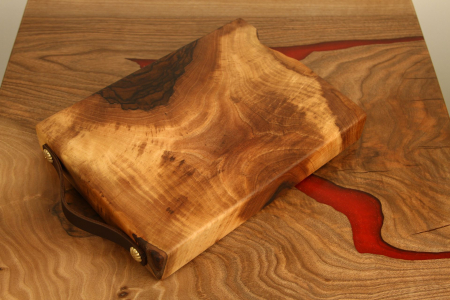 """Tocator / Platou din lemn de nuc """"Masiv""""0"""