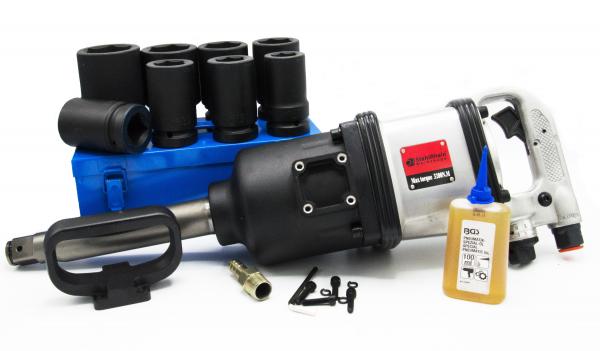 "Pistol pneumatic 1""-3200 NM, STAHLRHEIN + Tubulare impact 1'' 27-50mm, 8buc, BGS + Ulei special masini pneumatice 100ml, BGS 0"