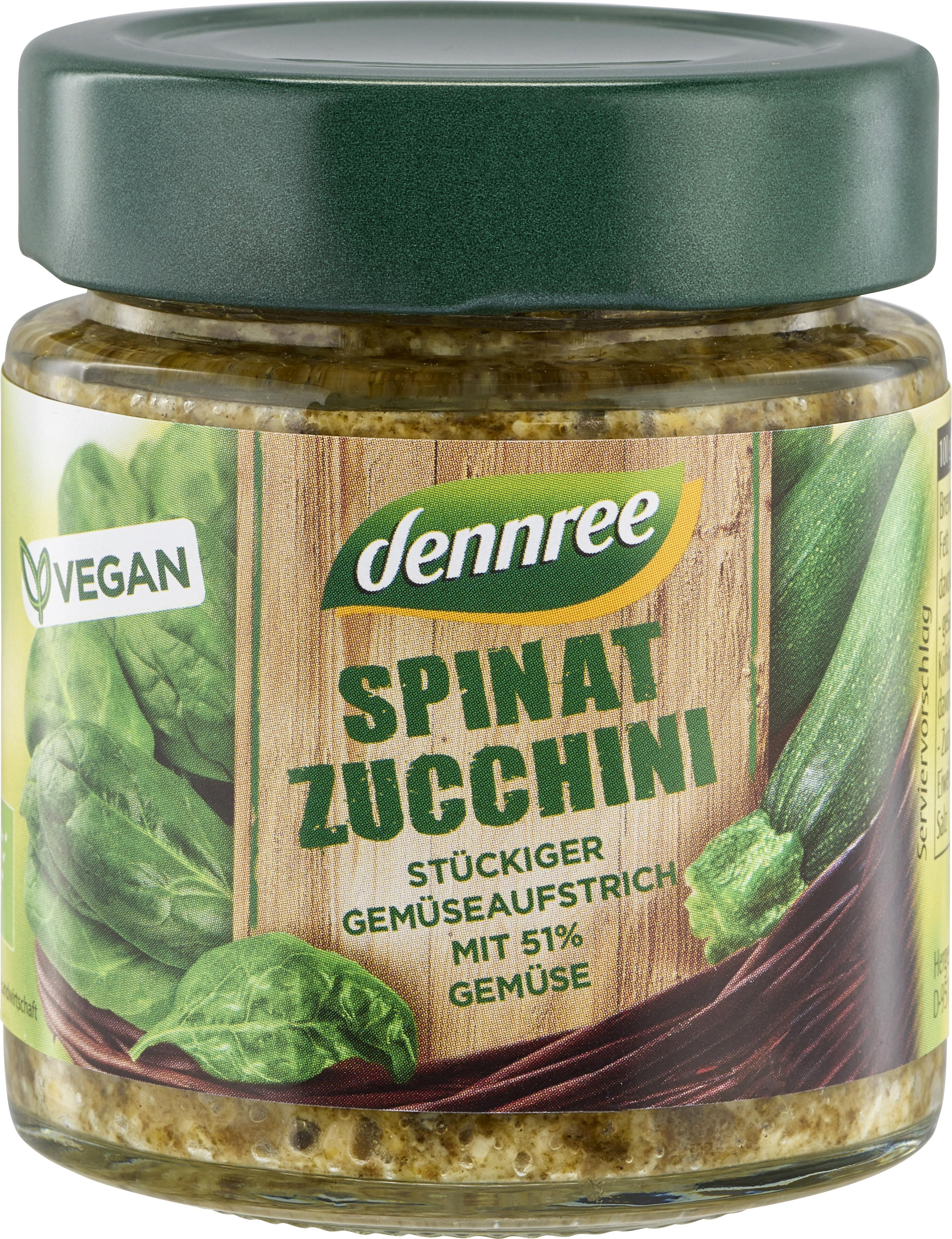 Pasta de legume cu spanac si zucchini bio 120g Dennree [0]