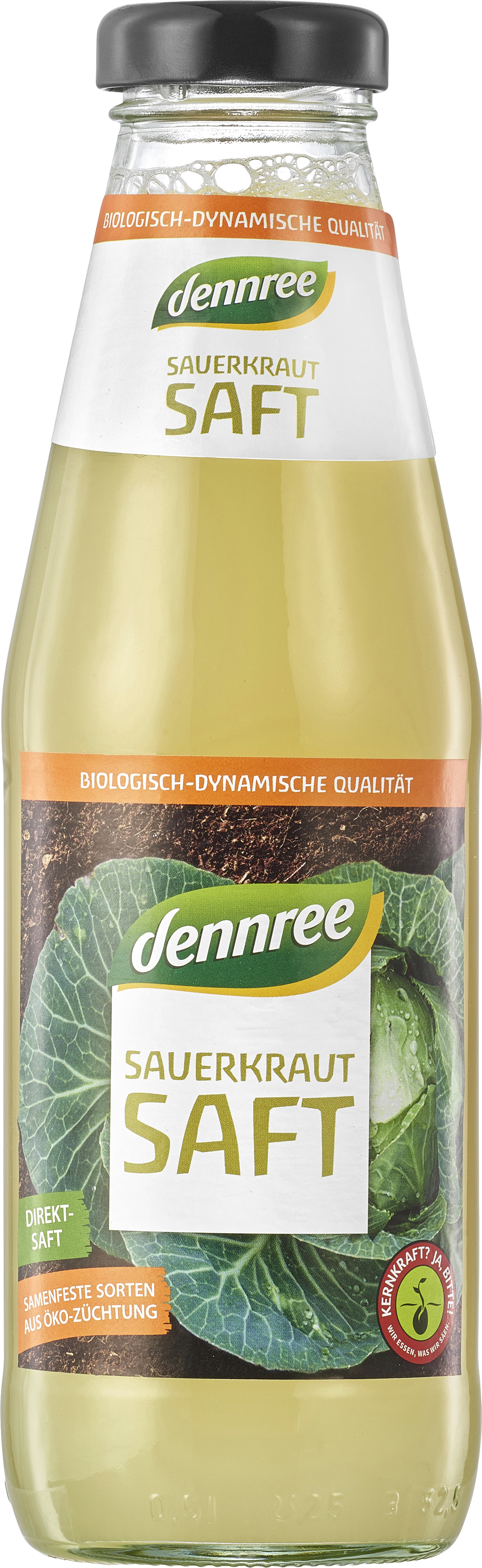 Suc de varza murata fermentata bio 500ml Dennree 0