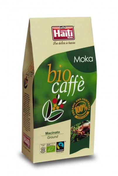 Cafea BIO macinata, Caffe' Haiti Roma, Moka, 250 gr 0