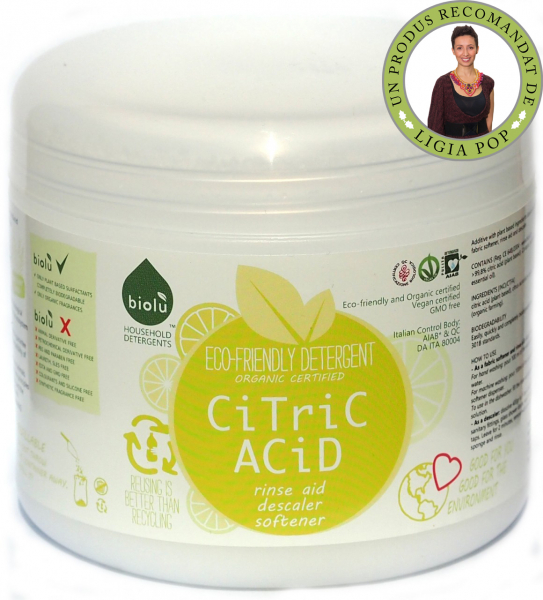 Acid citric ecologic pentru rufe 1kg 0