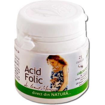 Acid folic, 25 capsule, Pro Natura 0