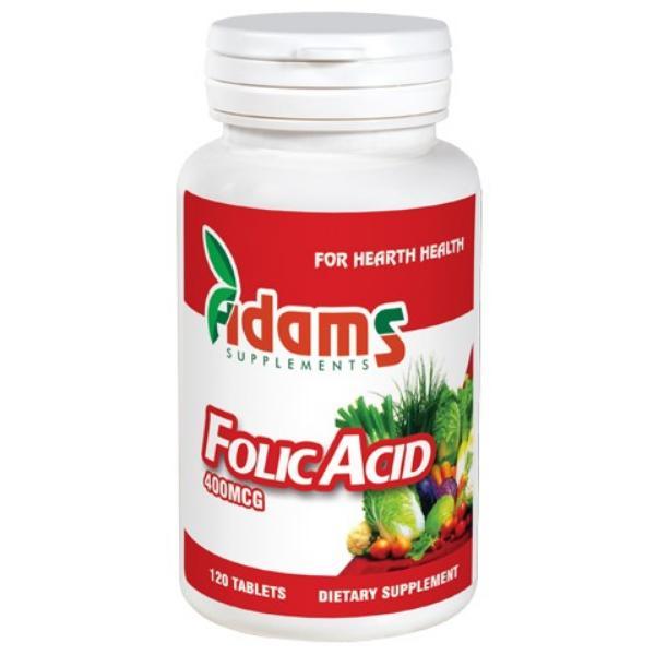 Acid Folic 400mcg, 120 tablete, Adams Vision 0