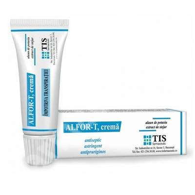 Alfor-T cremă împotriva transpirației picioarelor, 20 ml, Tis Farmaceutic [0]