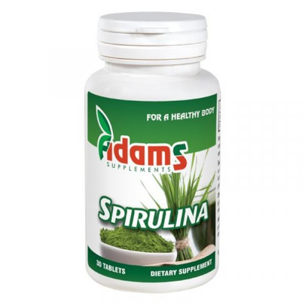 Spirulina 400mg, 30 comprimate, Adams Vision 0