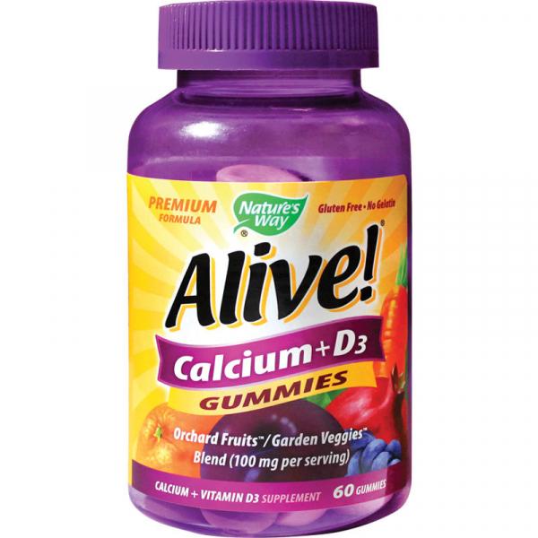 Alive Calciu + D3 Gummies Nature's Way, 60 jeleuri gumate, Secom [0]