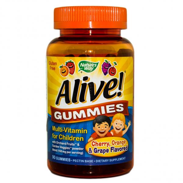 Alive Gummies Nature's Way, 90 jeleuri gumate, Secom 0