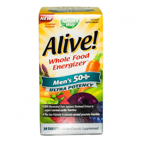 Alive Once Daily Mens 50+ Ultra Nature's Way, 30 tablete, Secom 0