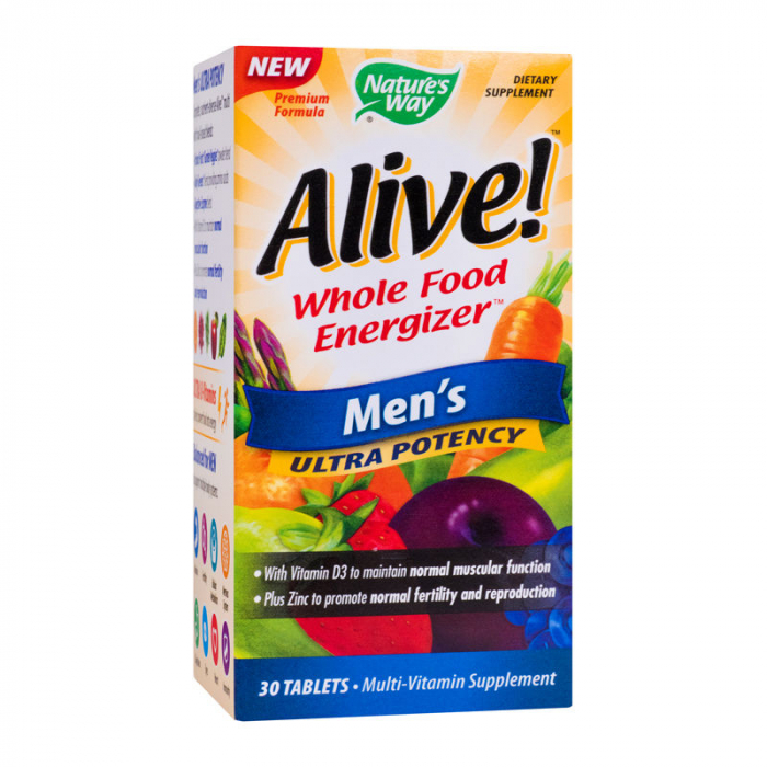 Alive Once Daily Mens Ultra Potency Nature's Way, 30 tablete, Secom 1
