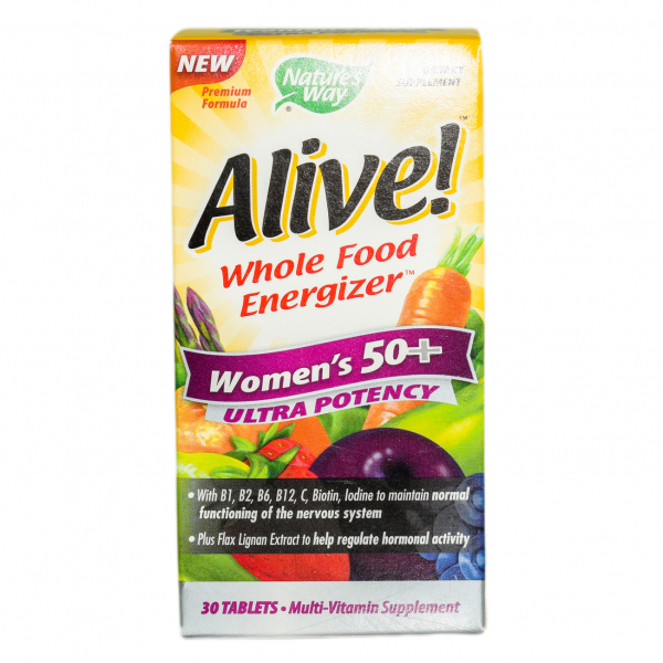 Alive Once Daily Women 50+ Ultra Nature's Way, 30 tablete, Secom 0