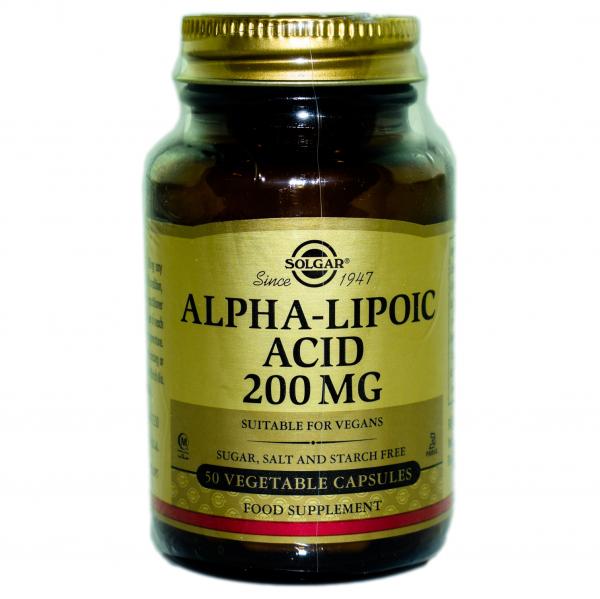 Acid Alfa-lipoic 200 mg, 50 capsule, Solgar 0