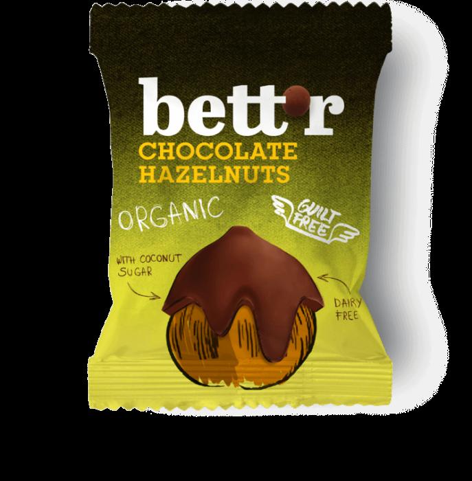 Alune de padure invelite in ciocolata eco 40g Bettr 0