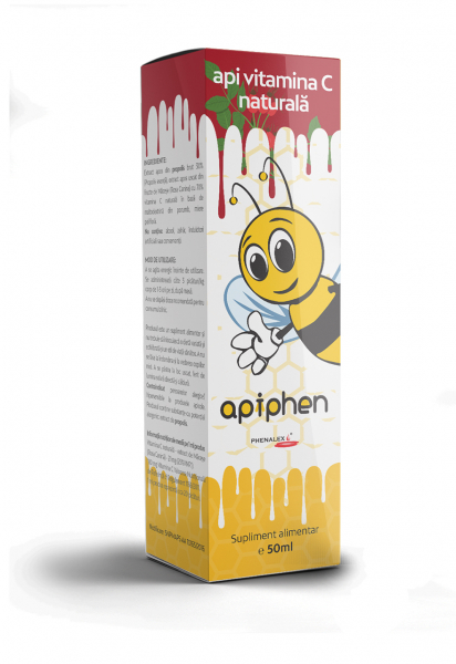 Apiphen api vitamina C naturala 50ml 0