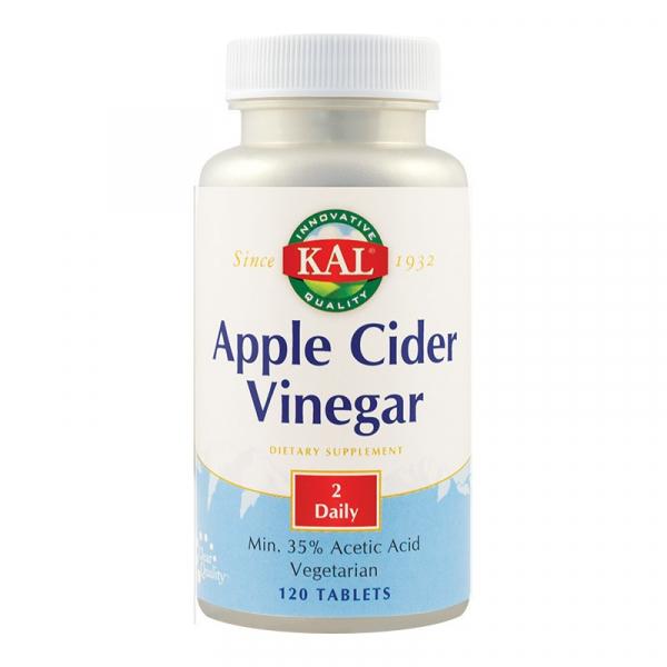 Apple Cider Vinegar (Oțet de mere) 500mg Kal, 120 tablete, Secom [0]
