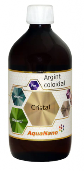 Argint coloidal, AquaNano Cristal, 10ppm, 480ml, Aghoras Invent 0