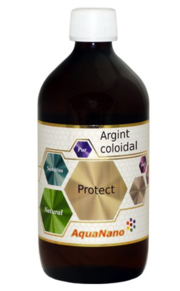 Argint coloidal, AquaNano Protect, 15ppm, 480ml, Aghoras Invent 0