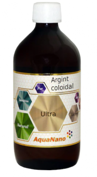 Argint coloidal, AquaNano Ultra, 80ppm, 480ml, Aghoras Invent [0]