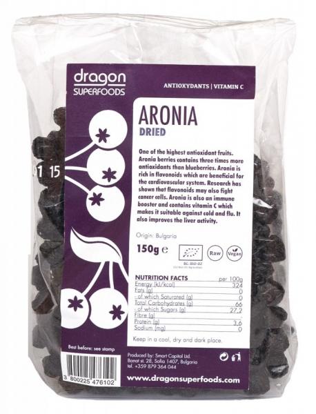 Aronia fructe uscate bio 150g 0
