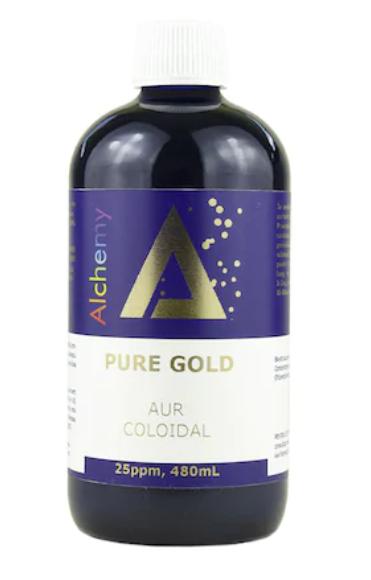 Aur coloidal PureGold 25ppm, Pure Alchemy 480 ml, Aghoras Invent 0