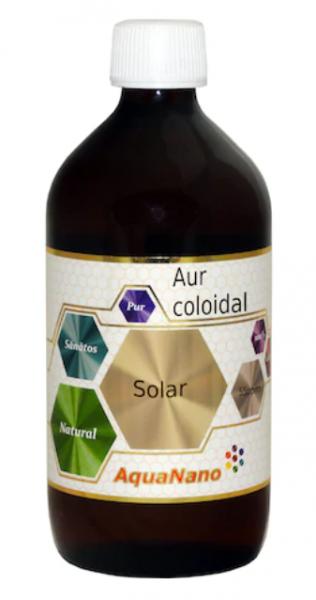 Aur coloidal, AquaNano Solar 55ppm, 200ml, Aghoras Invent 0