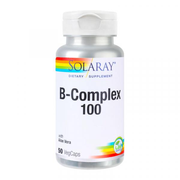 B-Complex 100 Solaray, 50 capsule, Secom 0
