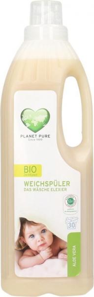 Balsam bio pentru hainutele copiilor -aloe vera- 1L Planet Pure 0