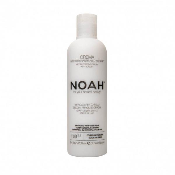 Balsam crema restructurant cu iaurt pentru par uscat, fragil si lipsit de stralucire (2.2), Noah, 250 ml [0]