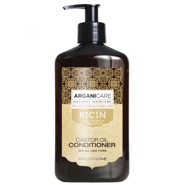Balsam regenerant ultra-hranitor cu ulei de ricin pentru toate tipurile de par, Arganicare, 400 ml [0]