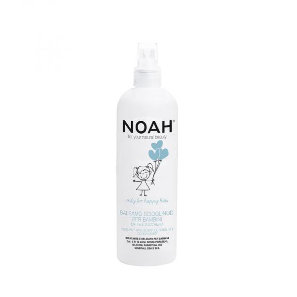 Balsam spray pentru descurcarea parului cu lapte zahar pentru copii, Noah, 250 ml 0