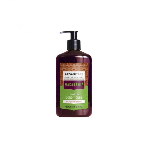 Balsam ultra hidratant fara clatire cu ulei de macadamia pentru par uscat si deteriorat, Arganicare, 400 ml 0