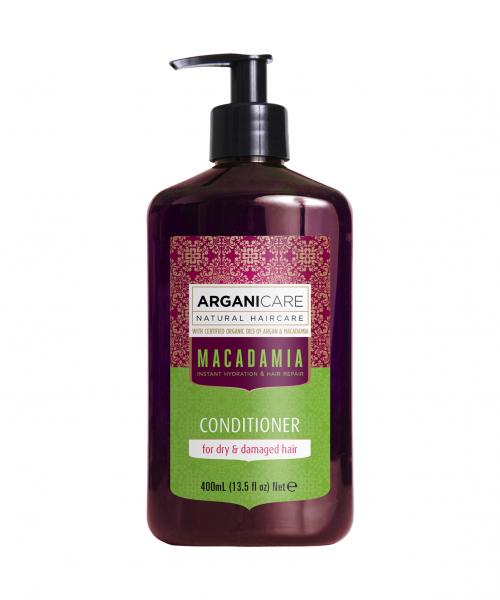 Balsam ultra hranitor cu ulei de macadamia pentru par uscat si deteriorat, Arganicare, 400 ml [0]
